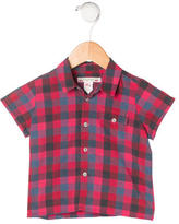 Bonpoint Boys' Gingham Print Button-Up Shirt