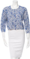 Oscar de la Renta Beaded Wool Cardigan