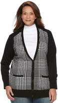 Croft & Barrow Plus Size Button Front Long Sleeve Cardigan
