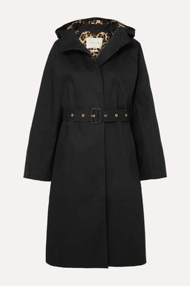 MACKINTOSH Hooded Bonded Cotton Trench Coat - Black
