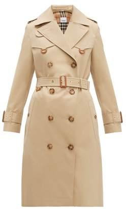 Burberry Islington Cotton Gabardine Trench Coat - Womens - Beige