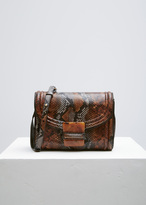 Dries Van Noten brown snakeskin shoulder bag