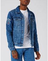 Topman Topman Embroidered Denim Jacket