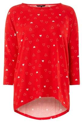 Dorothy Perkins Womens **Vero Moda Red 3/4 Sleeve Christmas Top, Red