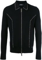 DSQUARED2 studded zip front cardigan - men - Wool - M