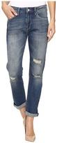 Mavi Jeans Brenda Boyfriend in Mid Blue Ripped 90s