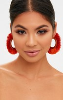 PrettyLittleThing Black Curved Tassel Earrings