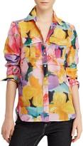 Lauren Ralph Lauren Watercolor Floral Utility Blouse