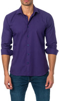 Jared Lang Houndstooth Semi-Fitted Shirt