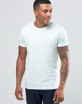 Asos T-Shirt With Crew Neck In Blue
