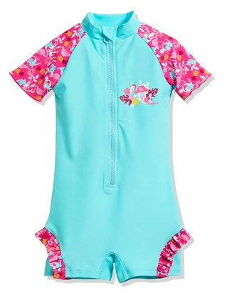 Playshoes Girl's UV Sun PRedection Flamingo All-in-One Swimsuit