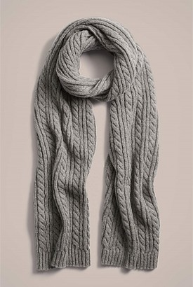 Witchery Classic Cable Scarf
