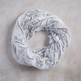 Faux Fur Infinity Scarf - Stone White Swirl