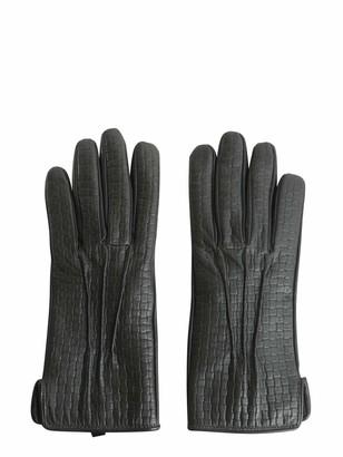 Tru Trussardi Gloves In Printed Nappa