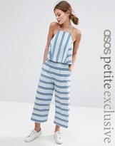 Asos Co-ord Linen Stripe Wide Leg Pant