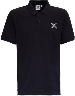 Kenzo Jersey Polo Shirt with Logo Print
