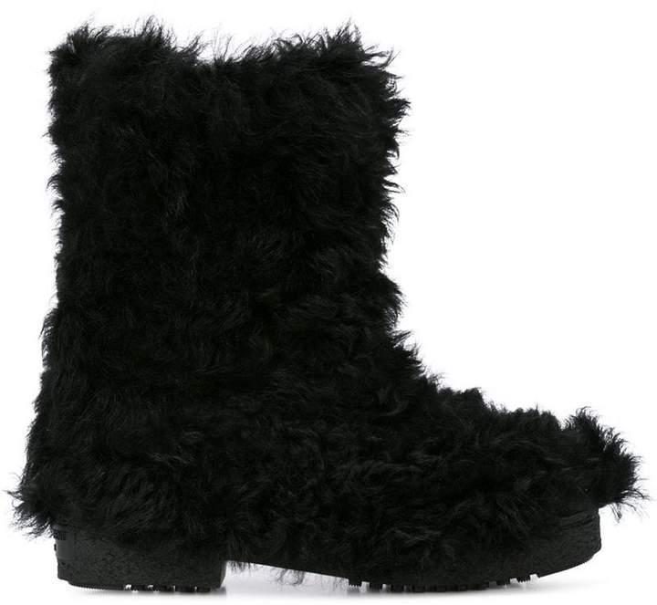 Saint Laurent fur boots