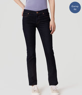 LOFT Petite Curvy Straight Leg Jeans in Dark Rinse Wash