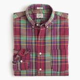 J.Crew Slim Indian madras shirt in pale burgundy
