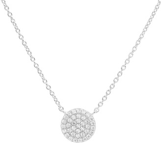 Kamaria Pave Disk With Crystals - Silver