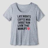 Merona Women's Mom Life T-Shirt Heather Gray