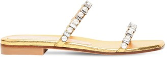 Stuart Weitzman 10mm Aleena Metallic Leather Sandals