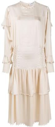 Lanvin Bell-Embellished Smock-Effect Dress