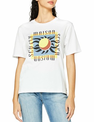 Scotch & Soda Women's Relaxed Fit Tee with Clean Artwork T-Shirt