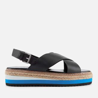 Dune Women's Karli Leather Flatform Sandals