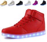 Anluke Kid Boys Girls 11 Colors Led Sneakers Light Up Flashing Shoes For Halloween ( / EU 35 )