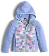 The North Face 'Glacier' Full Zip Hoodie (Toddler Girls & Little Girls)
