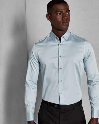 Ted Baker TOMAT Modern fit satin stretch shirt