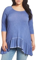 Plus Size Women's Dantelle Ruffle Hem Top