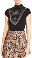 Haute Hippie Through The Looking Glass Embellished Bodysuit