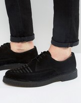 Religion Suede Creeper Derby Shoes