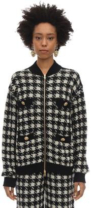Gucci Cashmere & Silk Houndstooth Sweater