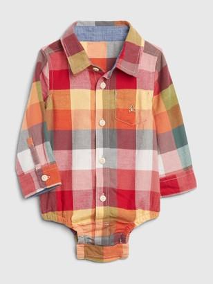 Gap Baby Plaid Bodysuit