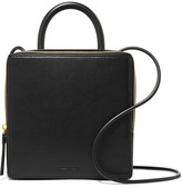 Building Block Box Leather Shoulder Bag - Black