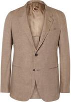 Caruso - Tan Slim-fit Linen Blazer