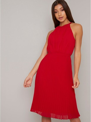 Chi Chi London Soren Dress - Red