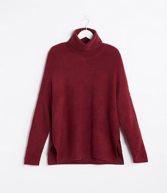 LOFT Lou & Grey Mock Neck Poncho Sweater