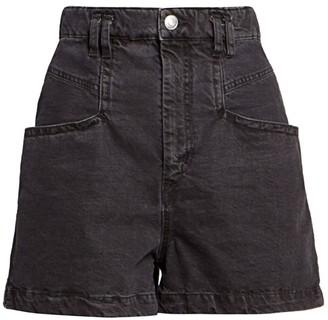 Isabel Marant Esquia Slouchy Denim Shorts