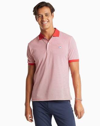 Southern Tide Jack Dinghy Striped Performance Pique Polo
