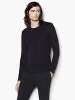 John Varvatos Silk Cashmere Crewneck Sweater