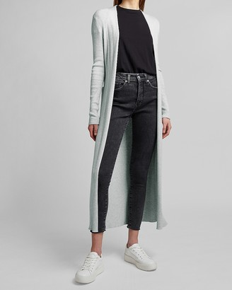Express Ribbed Belted Duster Cardigan