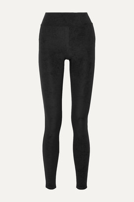 James Perse Stretch-velvet Leggings - Black