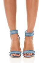 AX Paris Light Blue Denim Sandal Heels