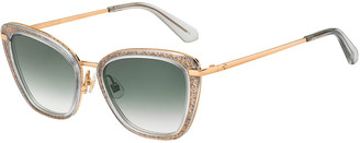 Kate Spade Thelma Cutout Stainless Steel Cat-Eye Sunglasses
