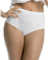 Just My Size Cotton TAGLESS Brief Panties-5-PK, Basic Assortment, Size