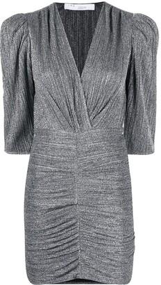 IRO V-neck ruched dress